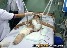 IDC Bantu Pengobatan Ardias Pratama, Korban Terlindas Truk Kontainer